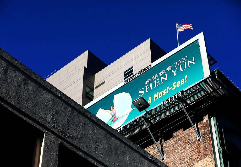A Shen Yun billboard in the 900 block of Mission St. in San Francisco, Calif., on Tuesday, January 7, 2020. Photo: Yalonda M. James, The Chronicle