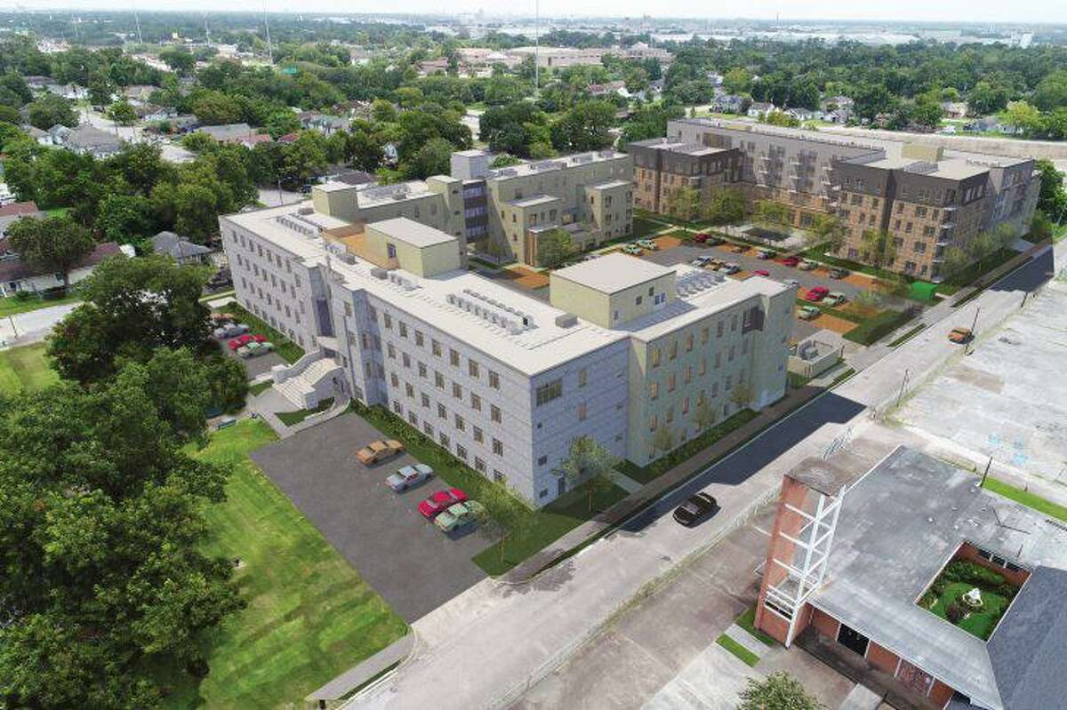 Renderings of St. Elizabeth's Place, the planned mixed income housing project on a 2.5-acre site in Houston's Fifth Ward.