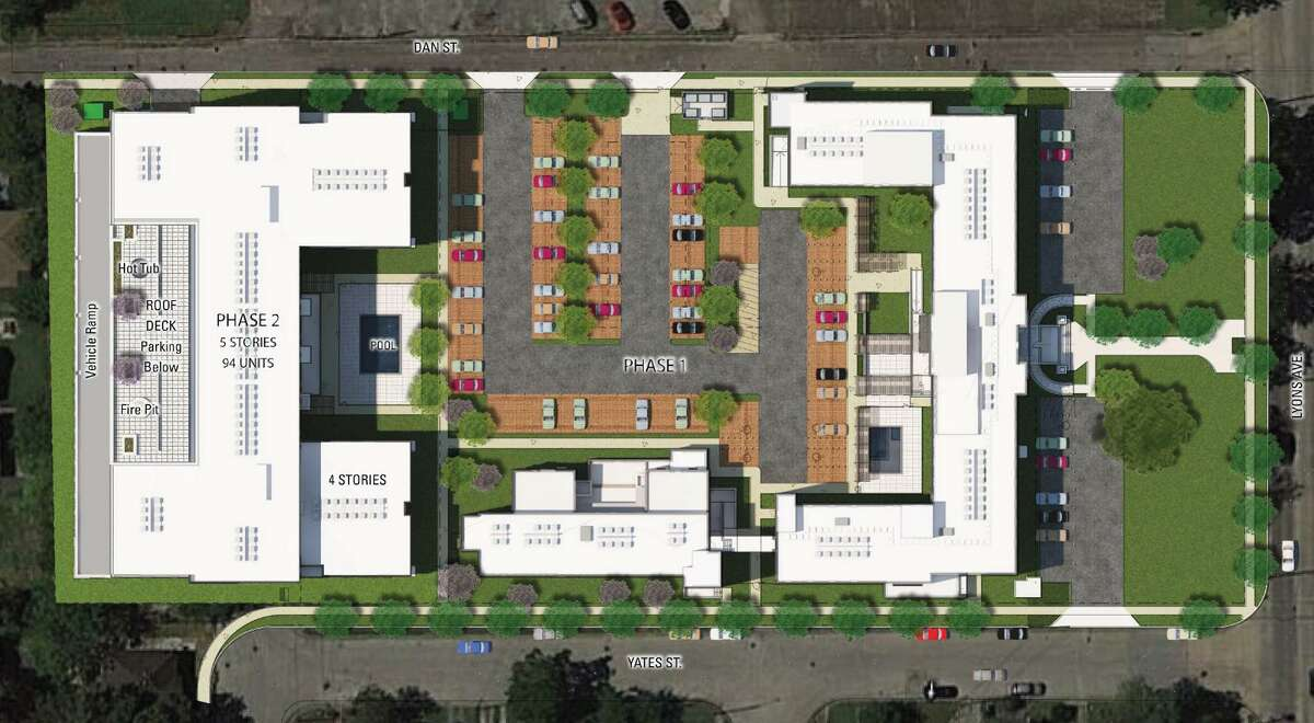 Renderings of St. Elizabeth's Place, the planned mixed income housing project on 3 acres of land in Houston's Fifth Ward. Of the 110 units planned, 98 will be affordable to households that make 60 percent or less of median area income.