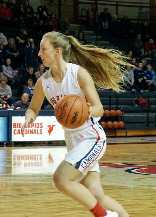 Big Rapids' Holly McKenna expects to be a major source of points against Newaygo tonight. (Pioneer file photo)