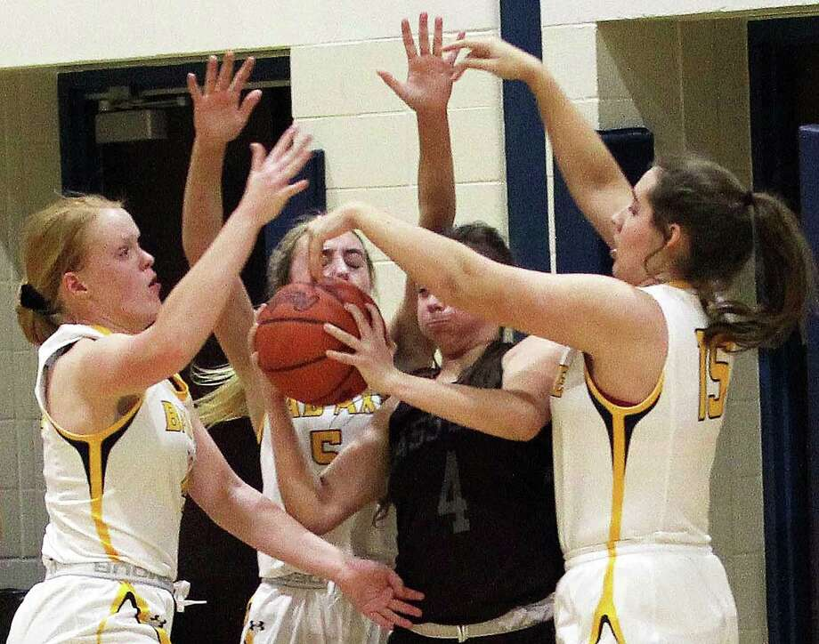 The Bad Axe girls basketball team battled the visiting Cass City Red Hawks in Greater Thumb West matchup on Thursday, Jan. 9, 2020. The Lady Hatchets picked up a 36-27 victory. Photo: Mark Birdsall/Huron Daily Tribune