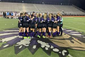 PN-G girls soccer huddle together after its 0-0 tie to Magnolia in the Cajun Classic tournament