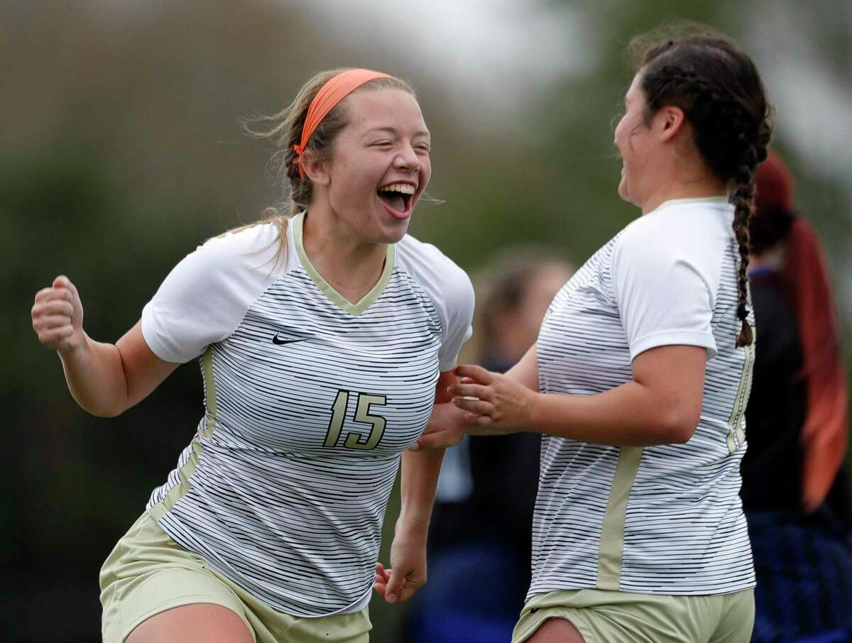 Conroe's Courtney Bokanyi (15) notched a goal in a 3-0 win over Sterling.