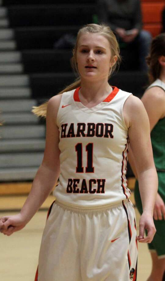The Harbor Beach girls basketball team picked up a resounding 40-10 victory over Brown City at home on Thursday, Jan. 9. Photo: Eric Rutter/Huron Daily Tribune