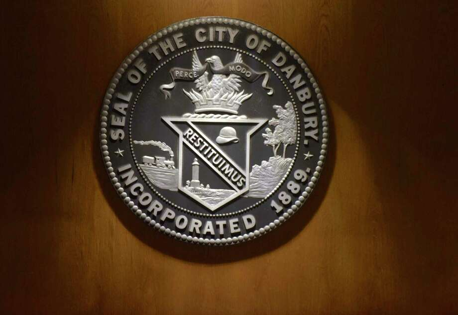 Seal of the City of Danbury in the Danbury City Council chambers. Tuesday night, August 7, 2018, in Danbury, Conn. Photo: H John Voorhees III / Hearst Connecticut Media / The News-Times