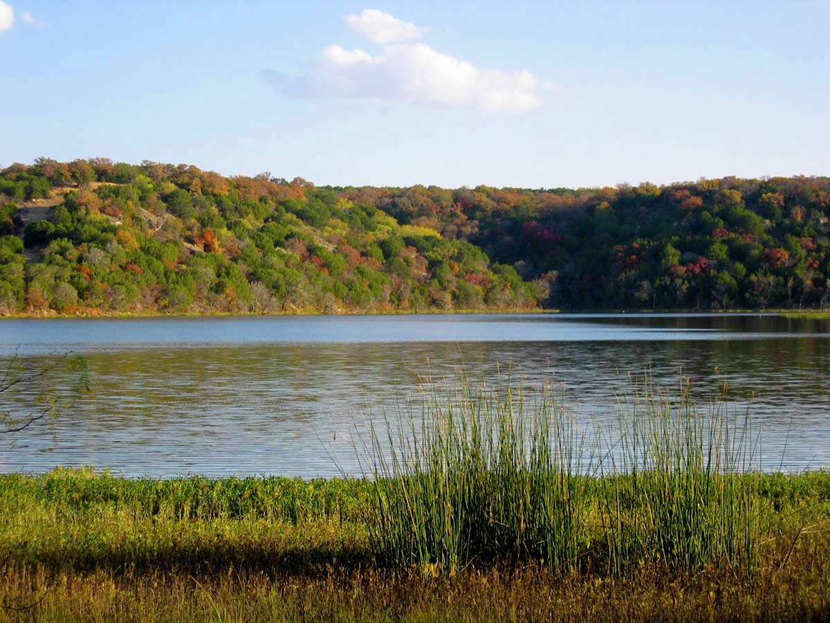Tucker Lake is currently open inside the undeveloped park and a fishing license is not required to cast a reel there. The 90-acre lake does not have a boat ramp and boats only with electric motors are allowed.