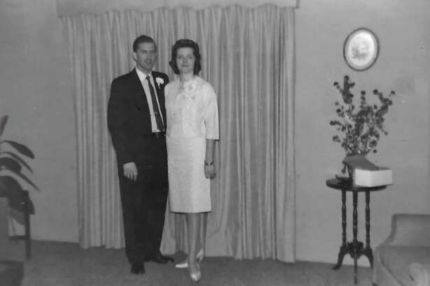 Si and Bobbie Harris on their wedding day Jan. 8, 1960 in Houston. The couple celebrated their 60th anniversary this past Wednesday.
