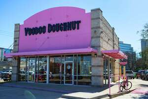 The exterior of Voodoo Doughnut is shown on Tuesday, Jan. 7, 2020, in Houston. Voodoo Doughnut opens his first Houston store on Jan. 15.