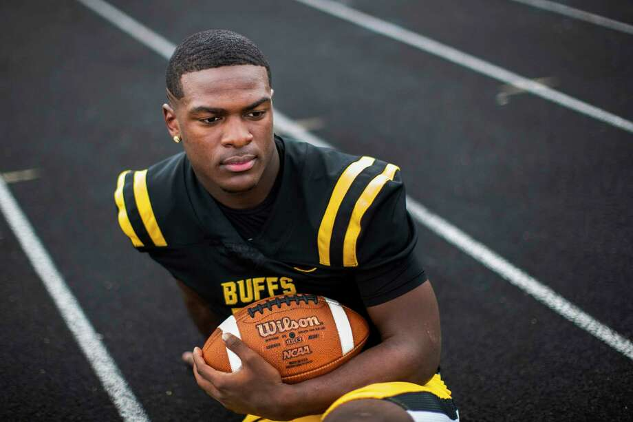 Fort Bend Marshall High School student and football offensive player Devon Achane, 18, on Saturday, Dec. 28, 2019, in Missouri City. Photo: Marie D. De Jesús, Staff Photographer / © 2019 Houston Chronicle