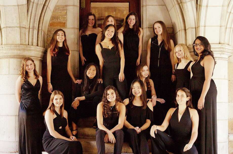The New Blue, Yale's female a cappella group. Photo: Contributed Photo / Copyright 2018. All rights reserved.
