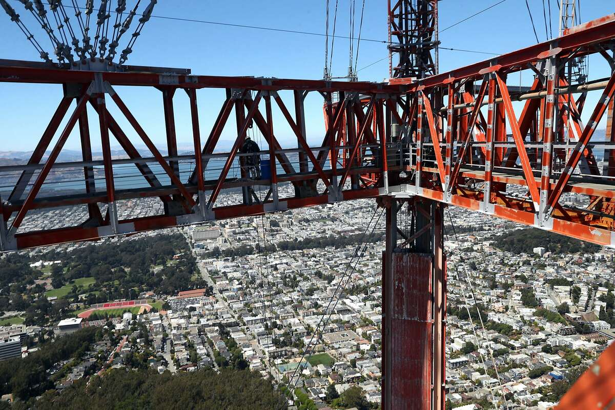 Sutro Tower in San Francisco, Calif. on Monday, July 9, 2018.