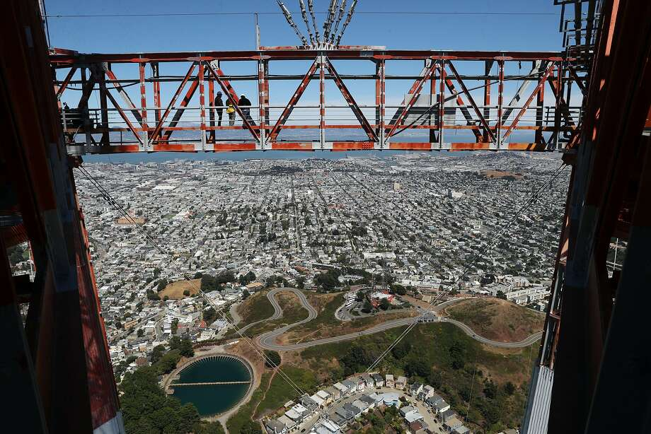 For those with access, Sutro Tower offers sweeping views of the bay. Photo: Scott Strazzante / The Chronicle 2018