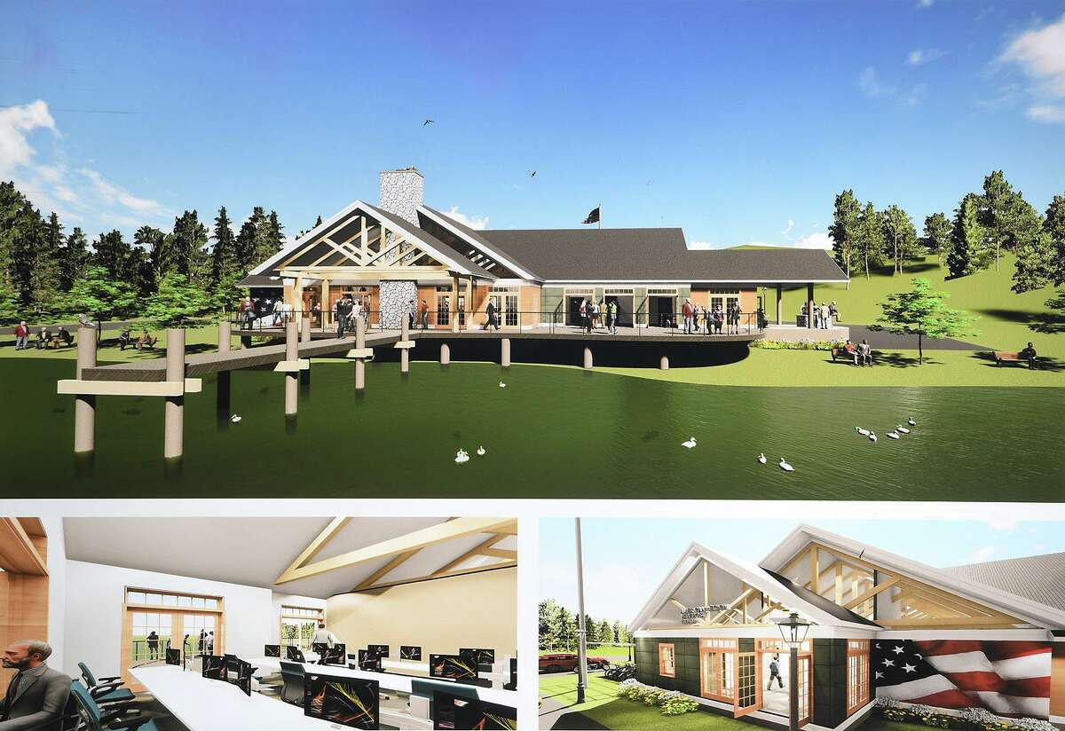 January, 2020 artist renderings of the planned Trumbull Veterans & First Responders Center.
