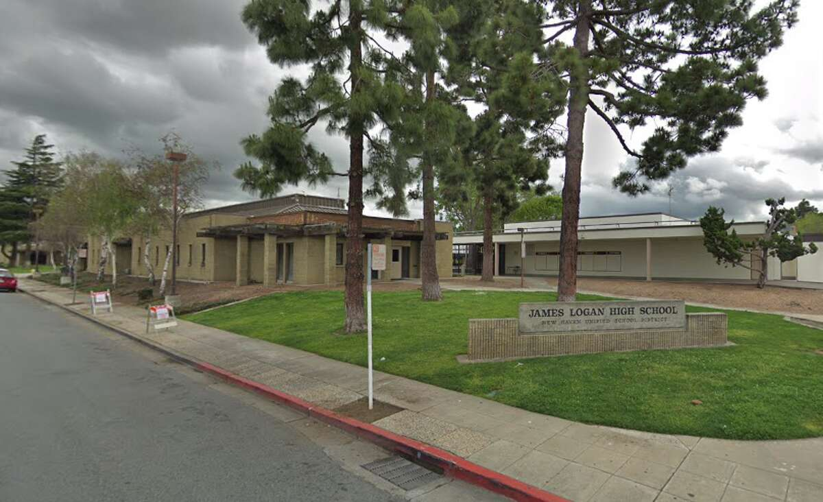 The mother of a student at James Logan High School in Union City says she was brutally attacked by two teenage girls on the campus when she tried to visit the principal's office to complain that her 16-year-old daughter was being bullied.