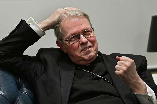 Albany Diocese Bishop Edward Scharfenberger is interviewed at the Catholic Diocese headquarters on Tuesday, Jan. 7, 2020 in Albany, N.Y. (Lori Van Buren/Times Union)