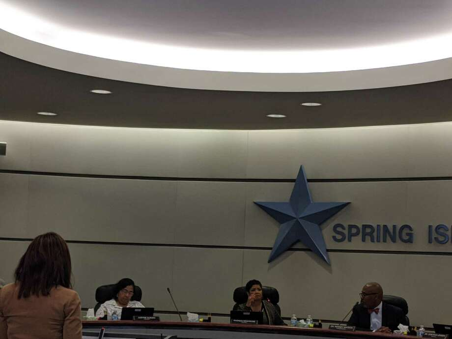 Spring ISD board members receive a presentation on new instructional materials from Chief of Curriculum and Instruction Khechara Bradford during their Jan. 9 work session. Photo: Paul Wedding