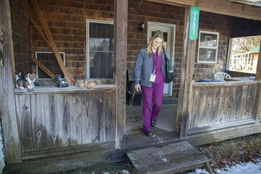Lexi Moore of North Country Home Services is among the region's home health workers increasingly in demand as the Adirondacks age.