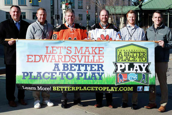 In mid-December 2019, Gori, third from right, posed for this image with various city and District 7 officials as part of the city's proposed ice rink and Better Place to Play Effort.