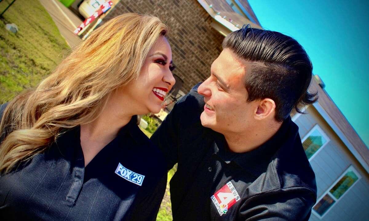 Alejandra and her huband Gerald who is a digital journalist at KABB & WOAI-TV.