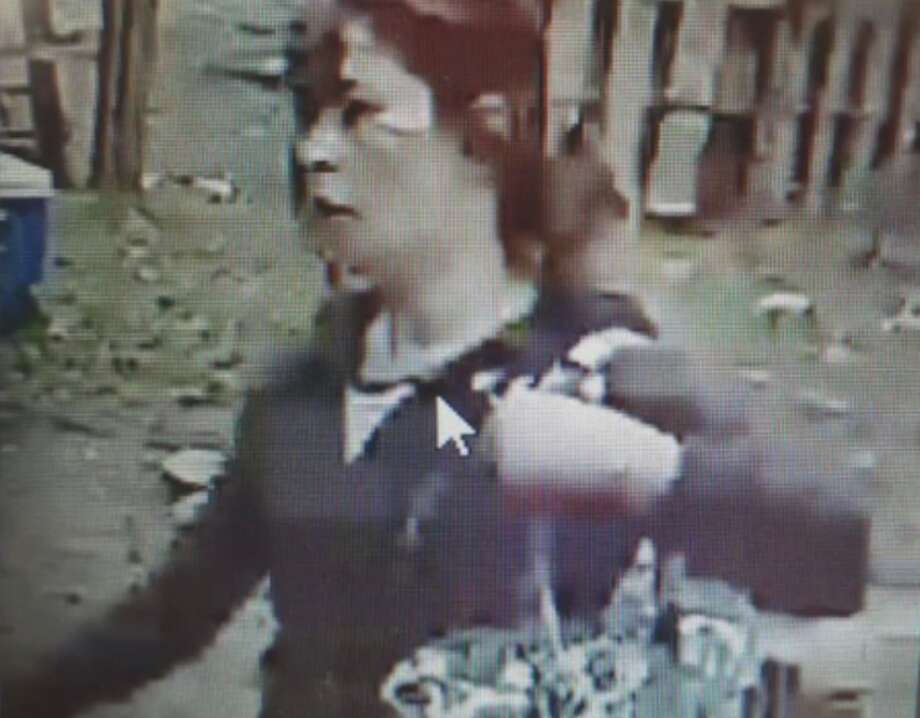 Redding authorities are trying to identify this woman, who was seen on surveillance video beating, kicking and biting a dog. (Footage taken Jan. 8, 2020.) Photo: Haven Humane Society/Facebook
