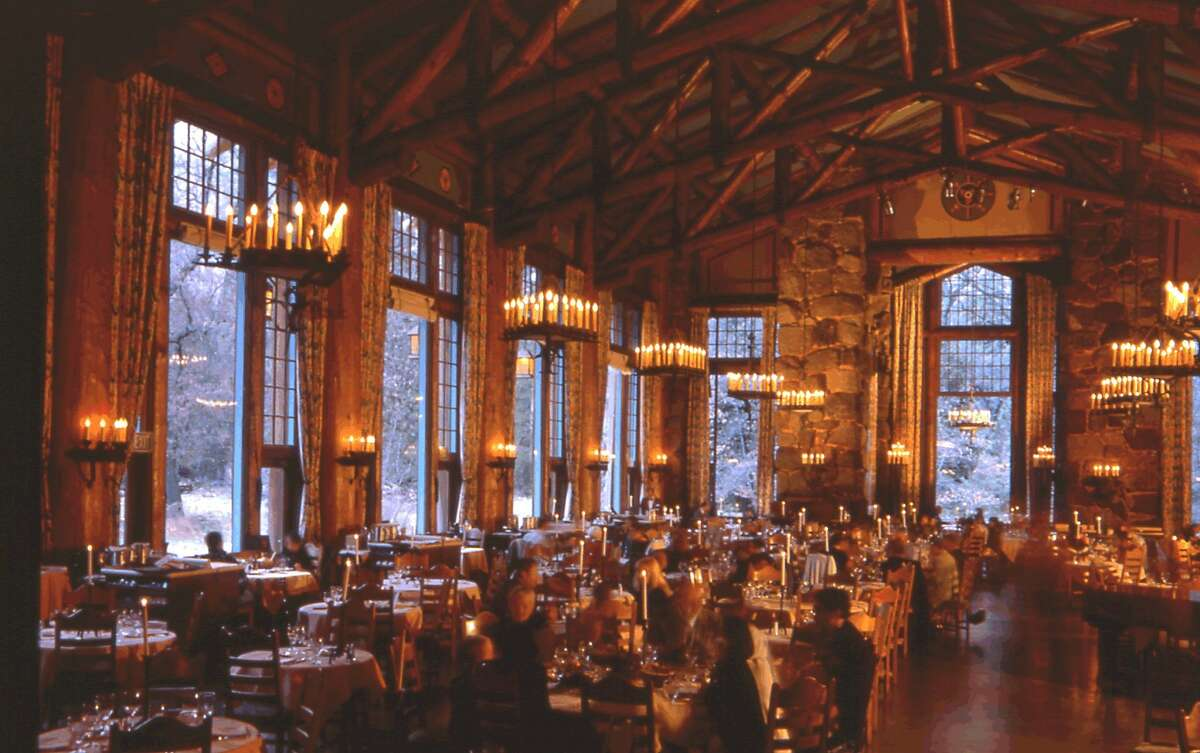 The Ahwahnee Lodge dining room is smack in the middle of the valley.