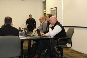 Member of theThe Woodlands Township Development Standards Committee discuss issues during the committee's first meeting of 2020.