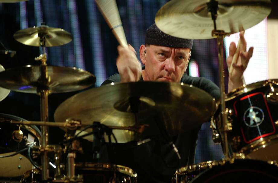 Neil Peart, drummer for Rush, has died at age 67. Photo: HARRY SCULL JR /ASSOCIATED PRESS / AP2004