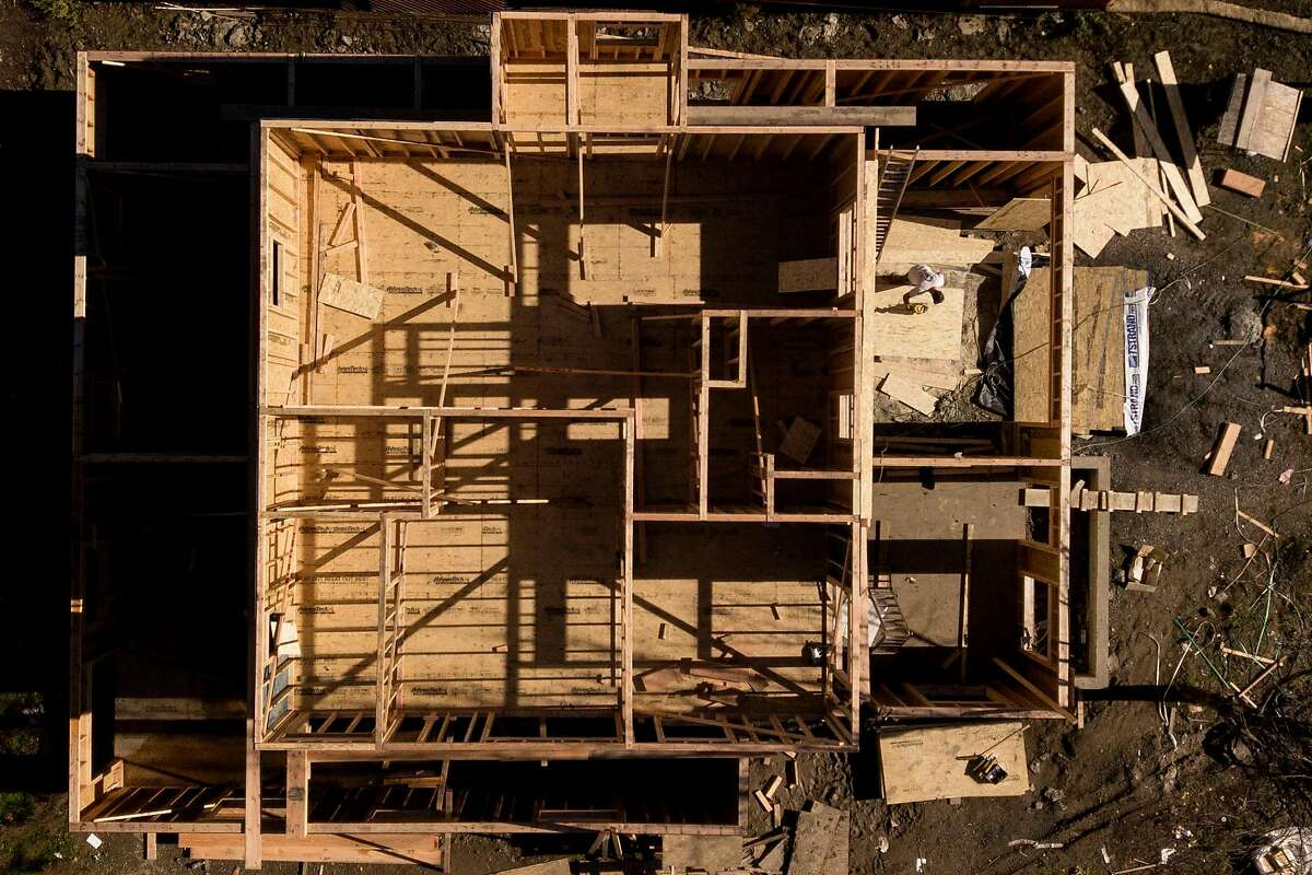 Construction of a new home along Jenna Place in the Coffey Park neighborhood on Friday, Jan. 10, 2020, in Santa Rosa, Calif.