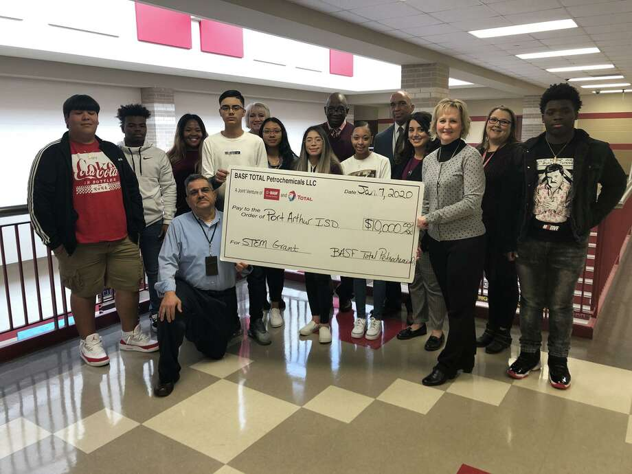 BASF Total donated $10,000 for use by the Port Arthur Memorial High School Chemistry. Photo: Provided By Port Arthur ISD