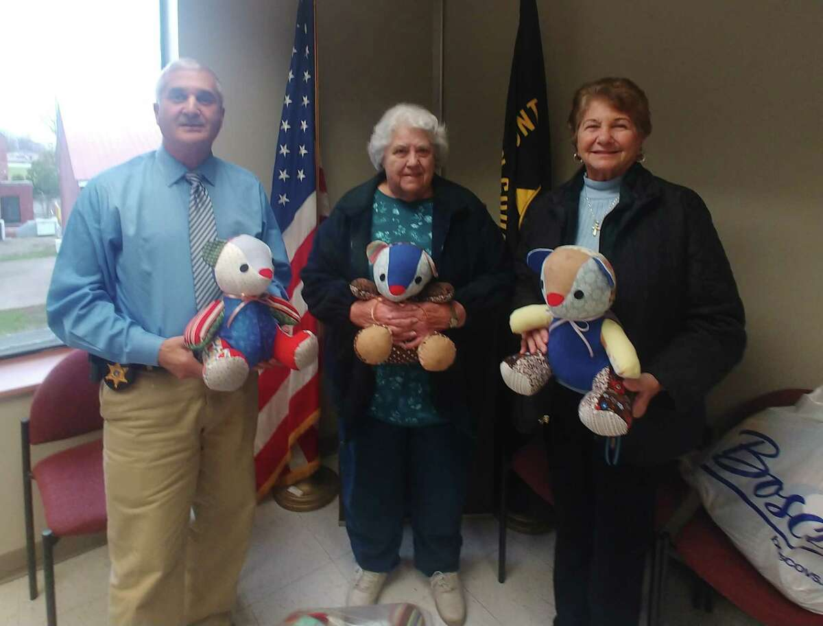 Sheriff Richard Giardino announced that the Fulton County Sheriff's Office was recently the beneficiary of a donation of 25 Teddy Bears to be used to distribute to young children to comfort them at accident scenes or other incidents. (Fulton County sheriff's office)