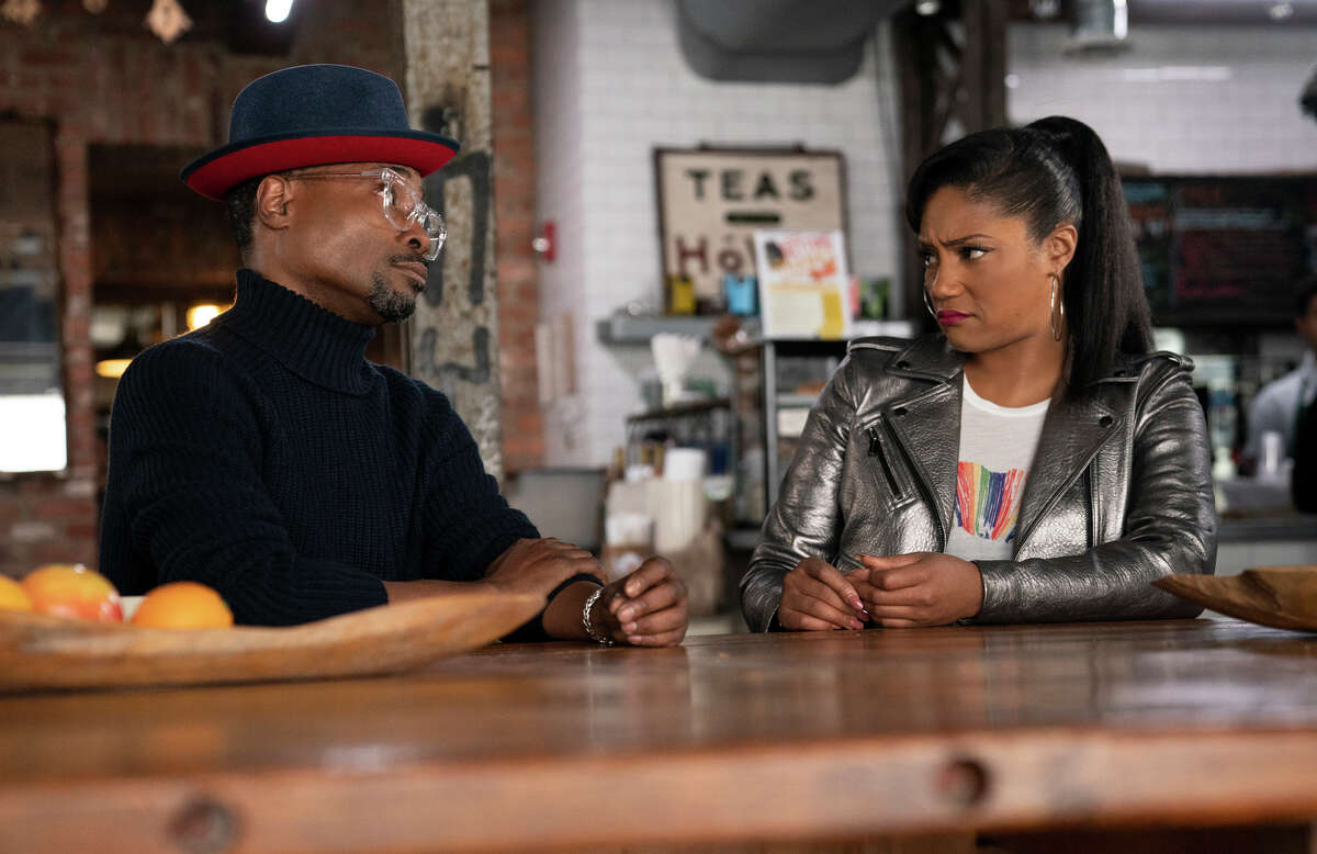 This image released by Paramount Pictures shows Billy Porter, left, and Tiffany Haddish in a scene from
