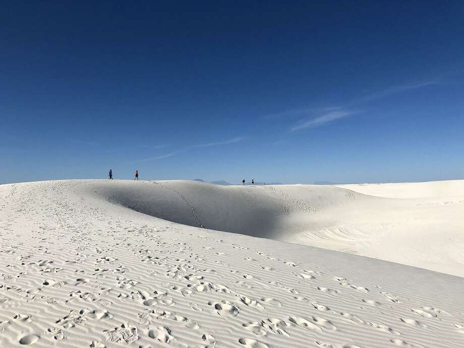 The Alkali Flat Trail is the longest and most strenuous at White Sands, the country's newest national park. Hikers must follow the blazes, as there is no exact trail. Photo: Melanie Radzicki McManus, MBR / TNS / Chicago Tribune