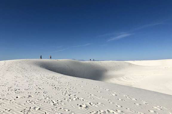 The Alkali Flat Trail is the longest and most strenuous at White Sands, the country's newest national park. Hikers must follow the blazes, as there is no exact trail.