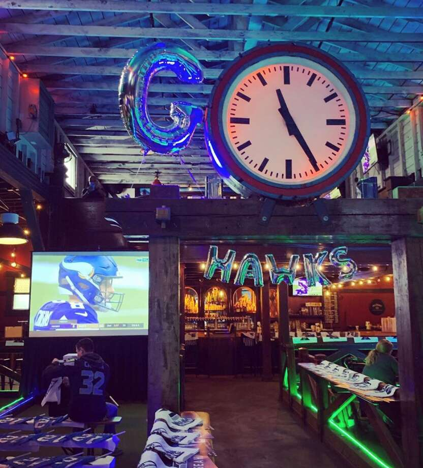 Rhein Haus is pulling out all the stops. Keep clicking for all the game day deals and viewing parties around Seattle we could find for those who could snag a babysitter, and those who are all in for the green- and blue-decked family fun. Photo: Courtesy Rhein Haus Seattle
