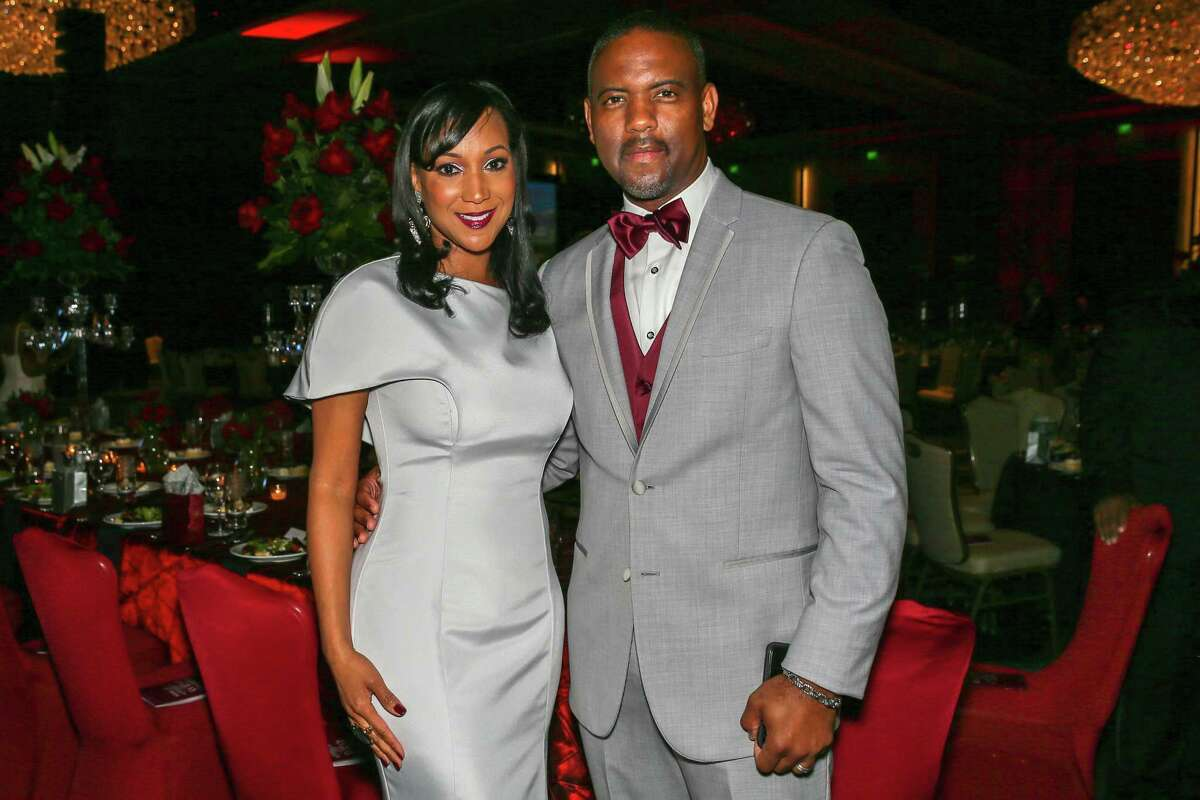 April 28, 2018: First Lady Loren Lane and TSU president Dr. Austin Lane host the Texas Southern University's annual Maroon and Gray Affair black-tie ball at the Marriott Marquis Hotel in Houston, Texas. (Leslie Plaza Johnson/Freelance