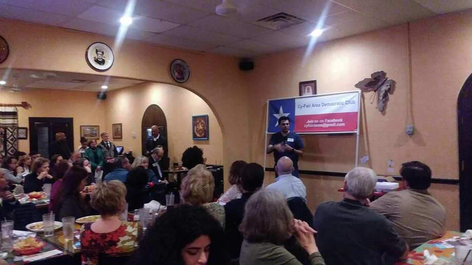 Pritesh Gandhi, candidate for congressman of Texas's 10th congressional district, discussed his platform based on reducing gun violence, protecting women's rights and immigration reform. Photo: Chevall Pryce