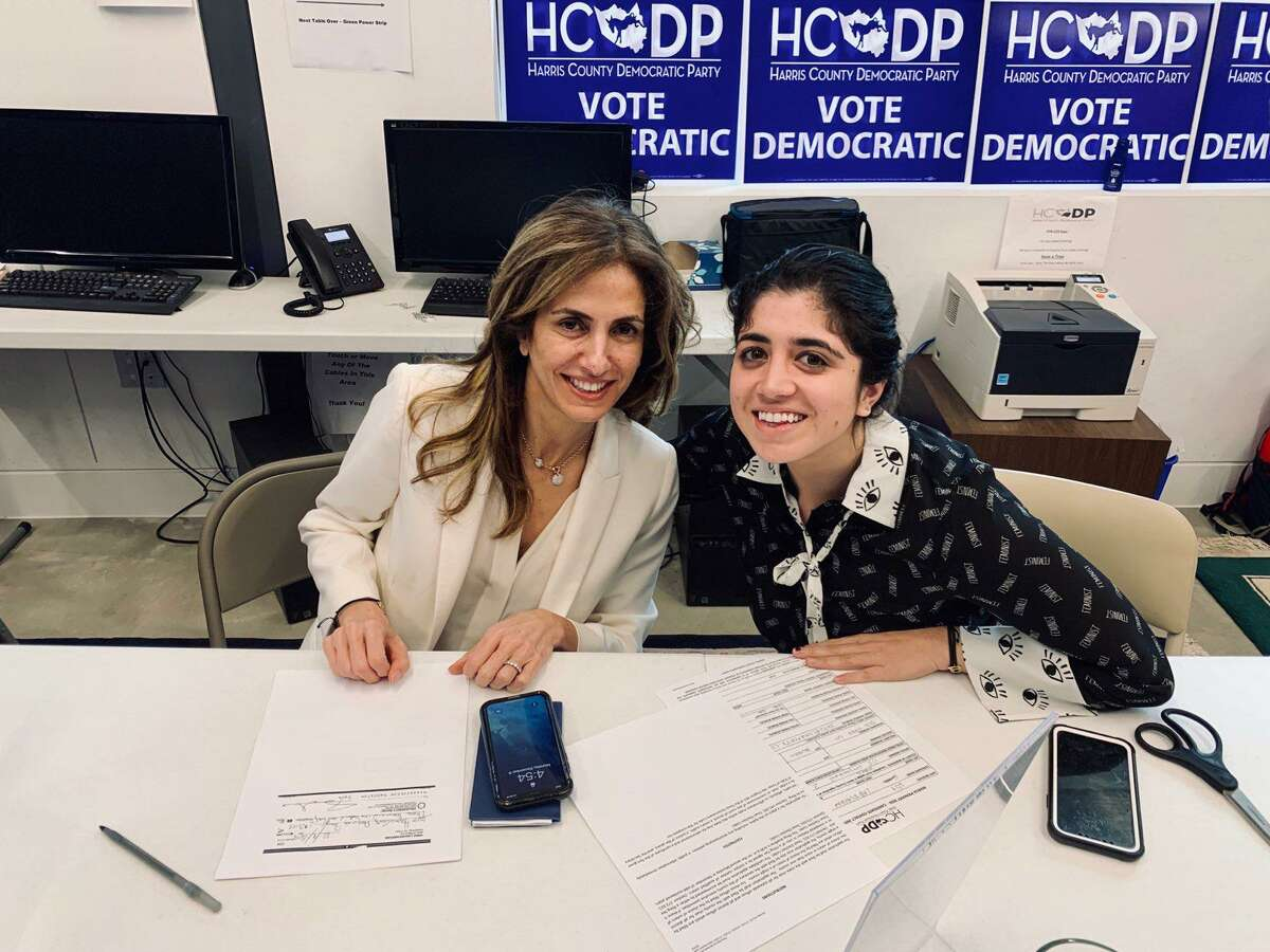 Sima Ladjevardian, left, a Houston attorney and former adviser to Senate candidate Beto O'Rourke, is running for the 2nd Congressional District currently held by Rep. Dan Crenshaw.