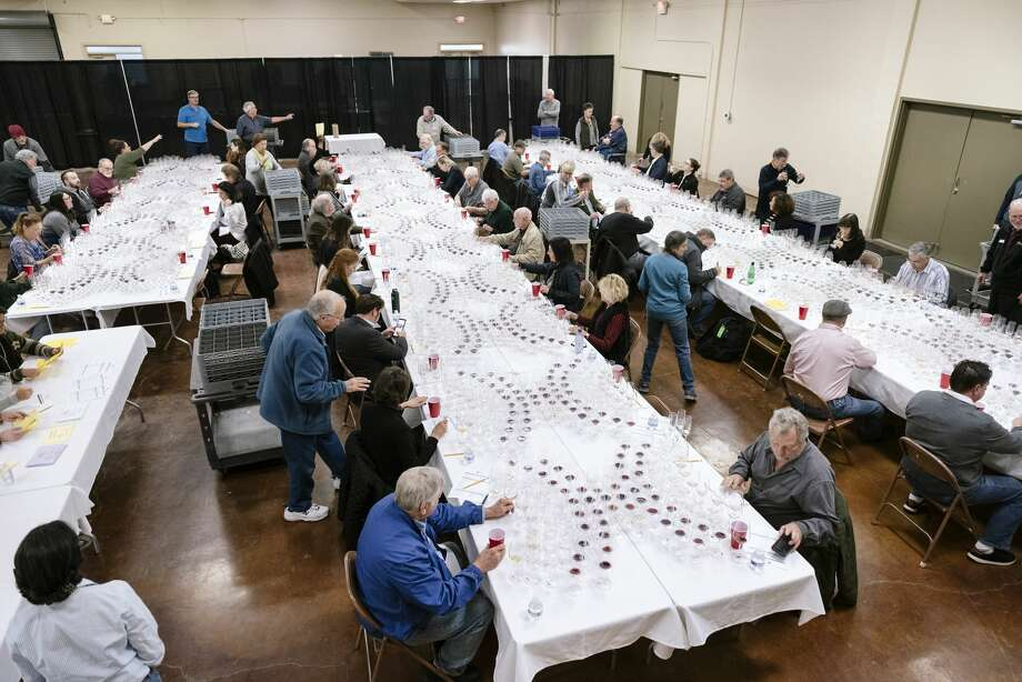 The 2020 San Francisco Chronicle Wine Competition at the Cloverdale Citrus Fairgrounds in Cloverdale, California, Friday, January 10th, 2020. Photo: Michael Short/Special To The Chronicle