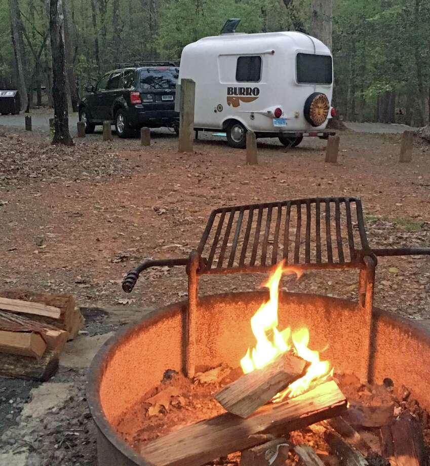 "Priscilla Allen's home, her revamped Burro camper she dubbed ""Pearl."" Photo: Contributed"