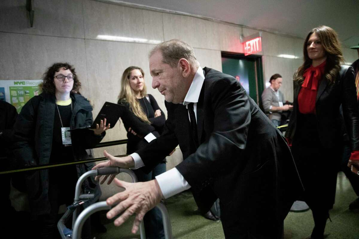 Harvey Weinstein leaves court after attending jury selection for his sexual assault trial, Friday, Jan. 10, 2020 in New York. (AP Photo/Mark Lennihan)