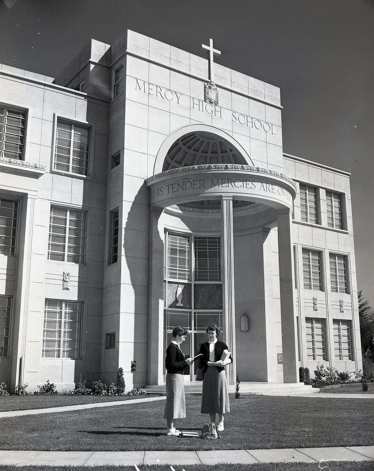 Mercy High School , April 3, 1955