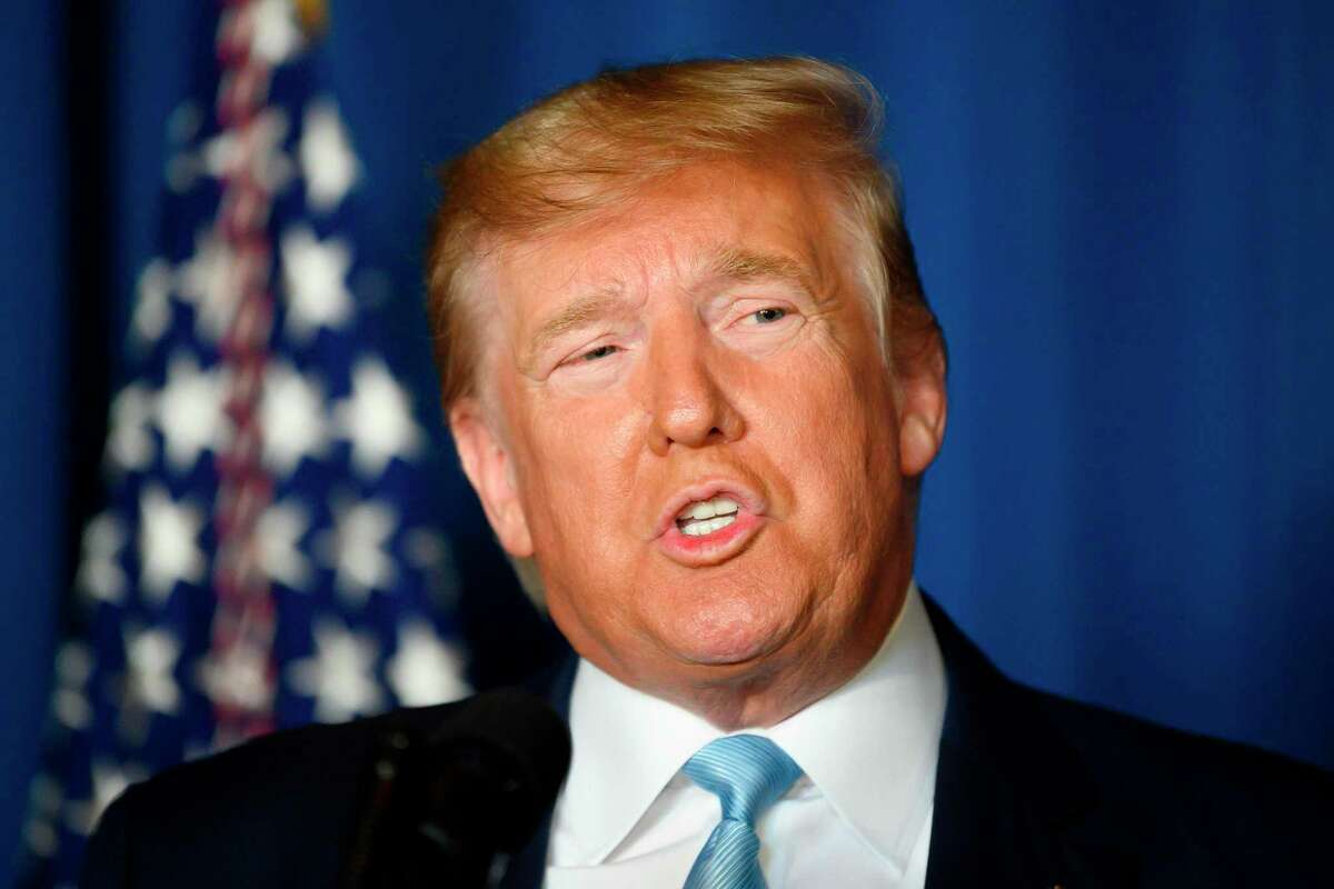 US President Donald Trump makes a statement on Iran at the Mar-a-Lago estate in Palm Beach Florida, on January 3, 2020. - President Donald Trump said on January 3, 2020 that America does not seek war or regime change with Iran, less than a day after the US launched an airstrike in Baghdad that killed Irans top general, Qasem Soleimani. (Photo by JIM WATSON / AFP) (Photo by JIM WATSON/AFP via Getty Images)