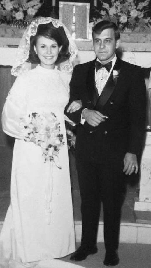 Joseph and Emily Hollinger at their wedding