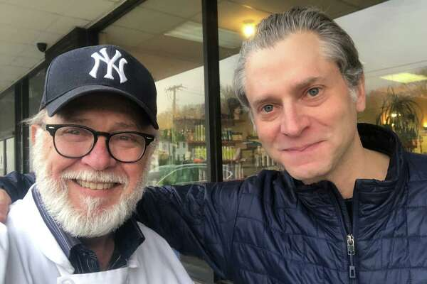 Sky Mercede of Forever Sweet Bakery in Norwalk with ESPN's Jeremy Schaap last week in Norwalk.