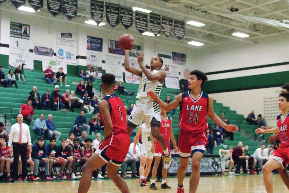 Clear Falls' Orlando Horton Jr. (1) puts up a shot against Clear Lake Friday at Clear Falls High School. Photo: Kirk Sides / Staff Photographer / © 2019 Kirk Sides / Houston Chronicle