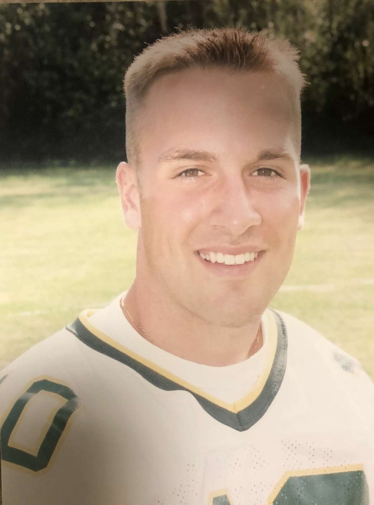 New Boston College football coach Jeff Hafley dealt with leg injuries during his Siena football career from 1997 to 2000. (Siena athletic communiciations)