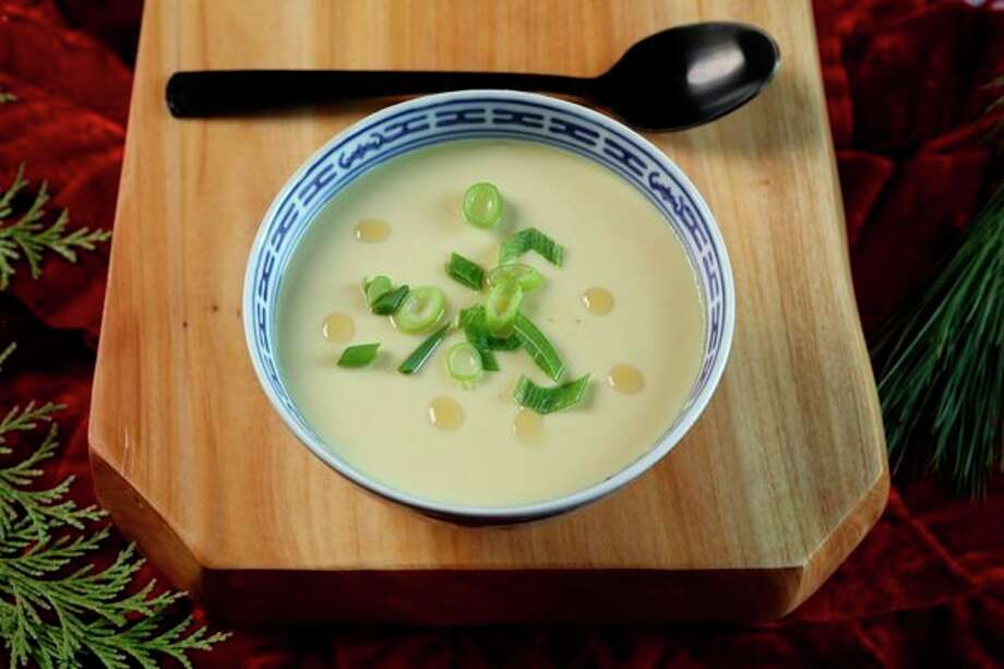Popular in both China and Japan, these easy steamed eggs are soothing for a tricky tummy and restorative on a wintry night. (Abel Uribe/Chicago Tribune/TNS) / Chicago Tribune