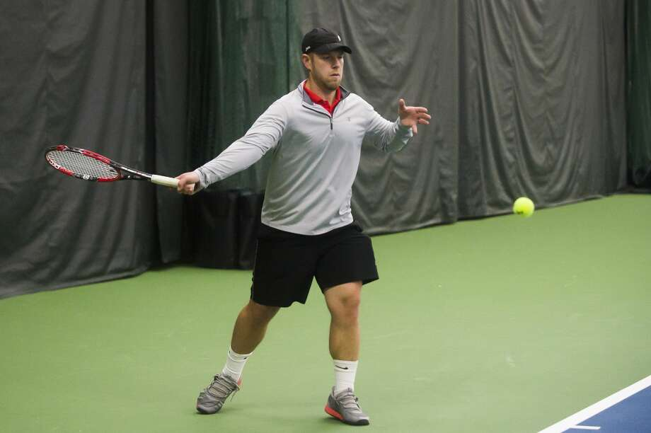 File - Mike Rose of Midland returns the ball while competing in the World Team Tennis Tournament Saturday, Jan. 11, 2020 at the Greater Midland Tennis Center. (Katy Kildee/kkildee@mdn.net) Photo: (Katy Kildee/kkildee@mdn.net)