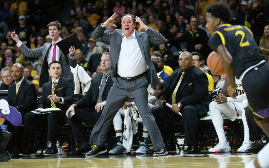 Wichita State coach Gregg Marshall reacts to a foul call during a game against East Carolina earlier this season. Photo: Travis Heying / Associated Press / The Wichita Eagle