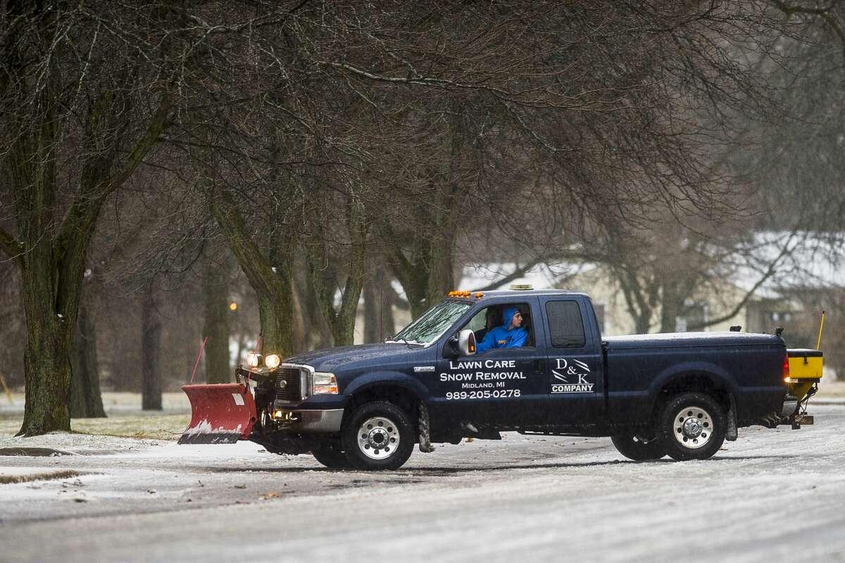 Ice covers surfaces around Midland Saturday, Jan. 11, 2020. (Katy Kildee/kkildee@mdn.net)